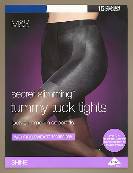15 Denier Magicwear™ Secret Slimming™ Tummy Tuck Shine Tights