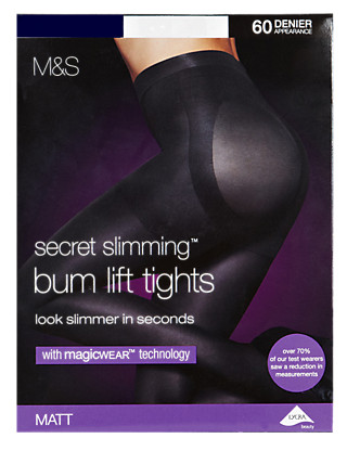 60 Denier Secret Slimming™ Body Sensor™ Opaque Tights with Magicwear™ Technology Clothing