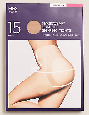 15 Denier Magicwear™ Matt Body Shaper Tights, NATURAL TAN, catlanding