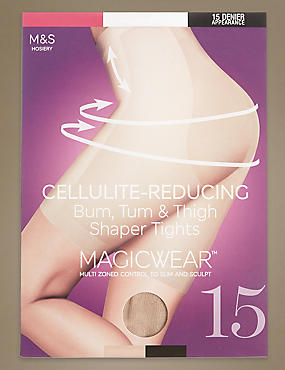 15 Denier Magicwear™ Secret Slimming™ Cellulite Reducing Bum, Tum & Thigh Body Shaper Tights