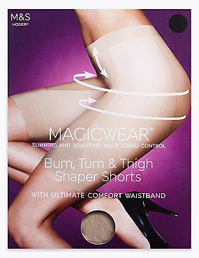 Magicwear™ Sheer Shaper Shorts, NATURAL TAN, catlanding