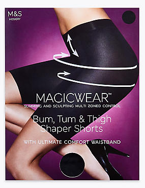 Magicwear™ Sheer Shaper Shorts, BLACK, catlanding