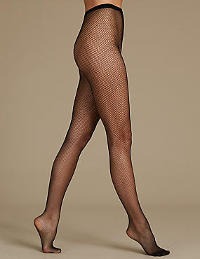 Triangle Fishnet Sheer Tights