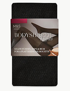 7 Denier Secret Slimming™ Bodyshaper Tights, BLACK, catlanding