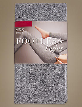 Marl Footless Opaque Tights