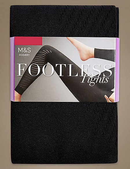 Punch Hole Footless Tights