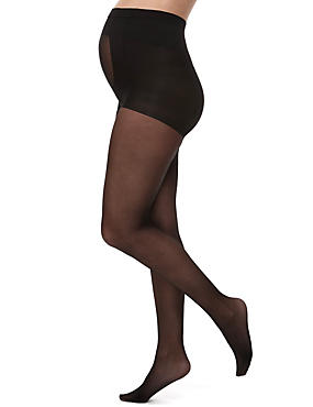 10 Denier Ladder Resist Support Matt Maternity Tights 1 Pair Pack