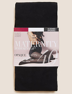 Maternity 40 Denier Body Sensor™ Tights, BLACK, catlanding