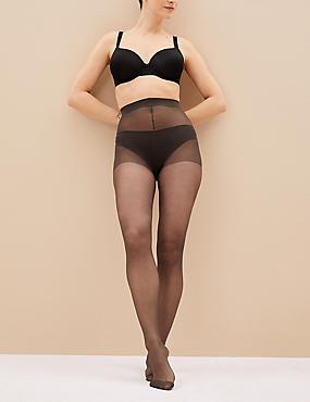 5 Pair Pack 15 Denier Ladder Resist Matt Tights, NEARLY BLACK, catlanding