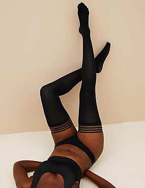 40 Denier Body Sensor™ Hold-ups, BLACK, catlanding