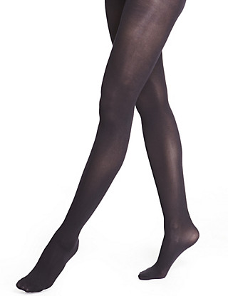 60 Denier Super Soft Opaque Tights 1 Pair Pack Clothing