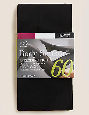 60 Denier Body Sensor™ Tights, BLACK, catlanding