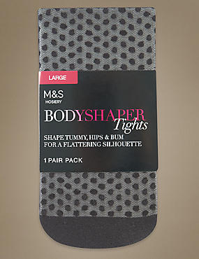 Secret Slimming™ Light Control Spotted Mesh Bodyshaper Tights