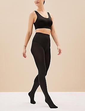 2 Pair Pack 100 Denier Body Sensor™ Tights, BLACK, catlanding
