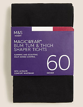 60 Denier Magicwear™ Opaque Tights, BLACK, catlanding