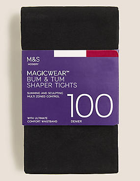100 Denier Magicwear™ Shaper Tights  , BLACK, catlanding
