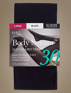 30 Denier Body Sensor™ Tights, BLACK, catlanding