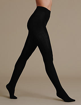 100 Denier Wool Rich Thermal Opaque Tights