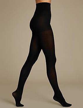Embellished Opaque Tights, BLACK, catlanding