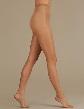 2 Pair Pack 10 Denier Tights, NATURAL TAN, catlanding