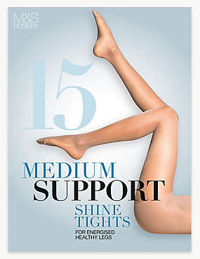 15 Denier Medium Support Shine Tights