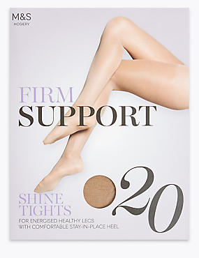 20 Denier Firm Support Tights, BROWN HAZE, catlanding