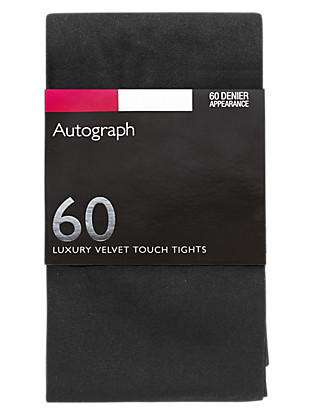 60 Denier Velvet Touch Opaque Tights 1 Pair Pack Clothing