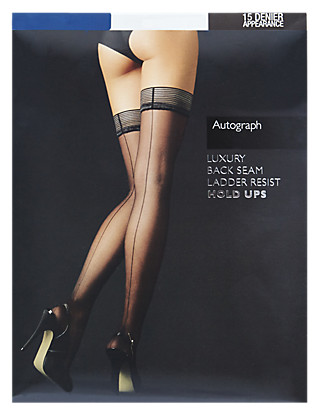 10 Denier Ladder Resist Back Seam Matt Hold-Ups Clothing