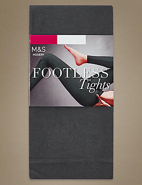 60 Denier Cotton Rich Opaque Footless Tights