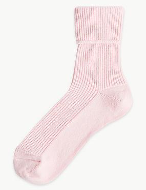Pure Cashmere Socks, PALE PINK, catlanding