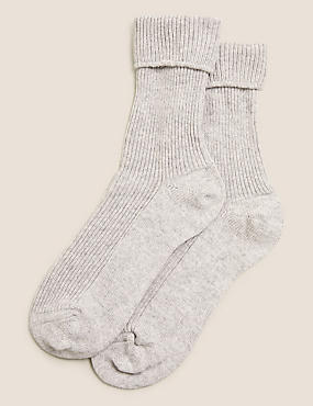 Pure Cashmere Slipper Socks