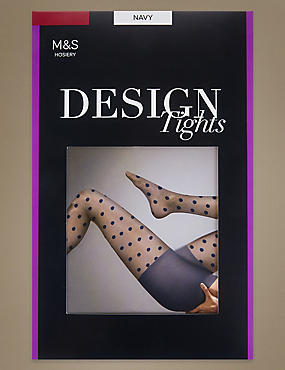 Sheer Spotted Tights