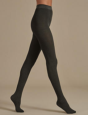 Chevron Opaque Tights