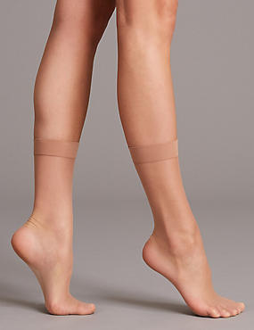 3 Pack 7 Denier Sheer Ankle High Tights, NATURAL TAN, catlanding
