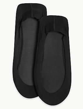 2 Pair Pack Low Cut Footsies , BLACK, catlanding
