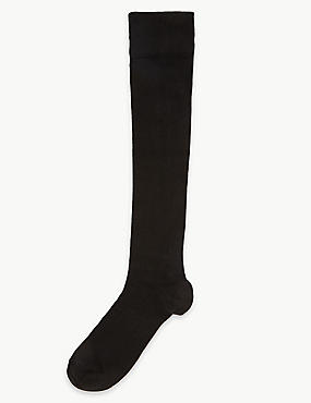 Heatgen™ Knee High Socks, BLACK, catlanding