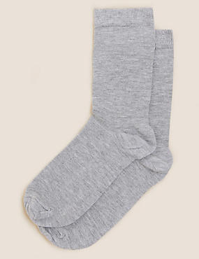 2 Pair Pack with Cashmere Socks , GREY, catlanding