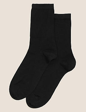 2 Pair Pack with Cashmere Socks , BLACK, catlanding