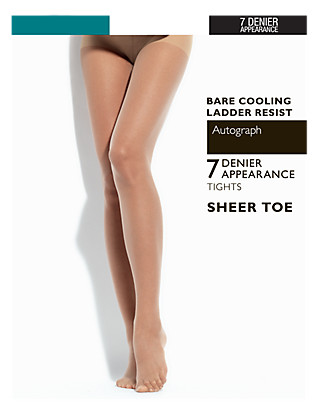 7 Denier Ladder Resist Bare Cooling Tights Clothing