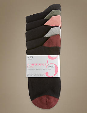 5 Pairs of Super Soft Socks with Silver Technology