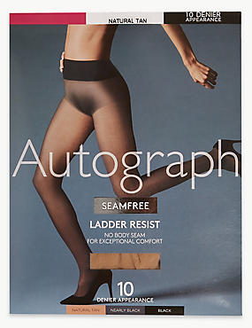 10 Denier Seamfree Ladder Resist Matt Tights