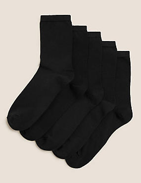 5 Pair Pack Cotton Rich Ankle High Socks
