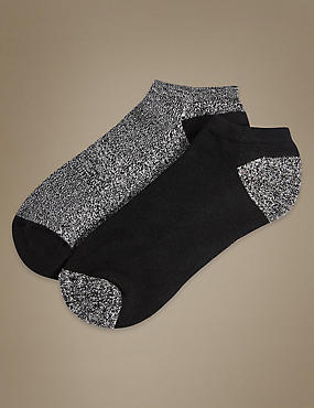 Heatgen™ 2 Pair Pack Trainer Liner Socks, BLACK MIX, catlanding