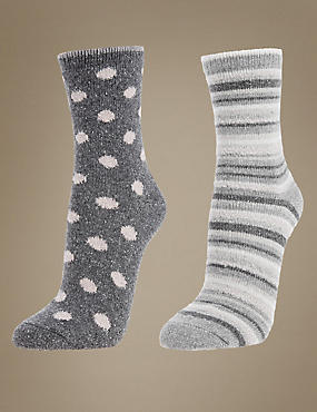 2 Pack Thermal Socks with Silver Technology