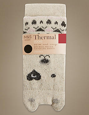 2 Pair Pack Bear Thermal Ankle High Socks