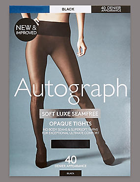 40 Denier Velvet Touch Soft Luxe Seamfree Opaque Tights
