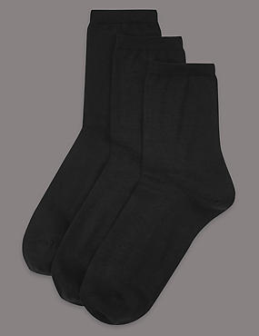 3 Pair Pack Body Sensor™ Ankle High Socks