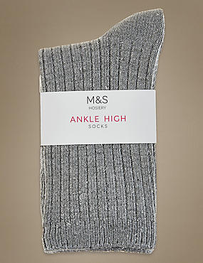Sparkle Ankle Socks with Silver Technology