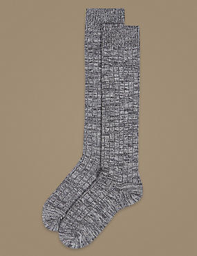 2 Pair Pack Thermal Knee High Socks , GREY, catlanding