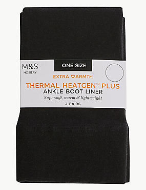 2 Pair Pack Heatgen™ Plus Boot Liner Socks, BLACK, catlanding